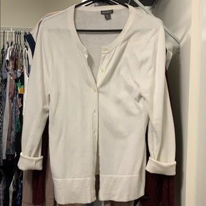 White Eddie Bauer Cardigan Sweater